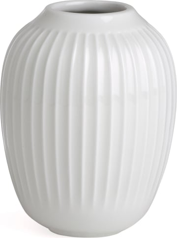 "Kähler Vase ""Hammershøi"" in Weiß - (H)10 cm"