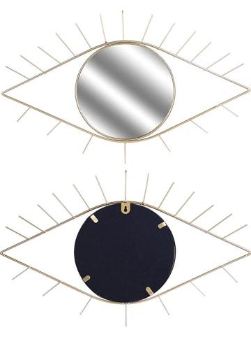 Rétro Chic Wandspiegel goudkleurig - (B)55 x (H)35 cm