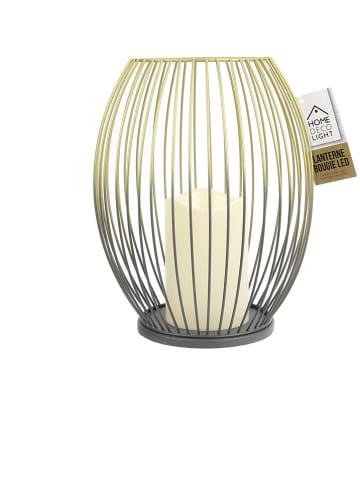"""Rétro Chic LED-Windlicht """"Make a wish"""" in Schwarz - (H)24 x Ø 19,5 cm"""