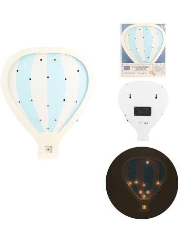 "The Home Deco Kids LED-Leuchtdeko ""Montgofiere"" in Hellblau/ Weiß - (B)24 x (H)29,5 x (T)3,2 cm"
