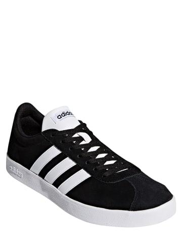 """Adidas Skórzane sneakersy """"VL Court 2.0"""" w kolorze czarnym"""
