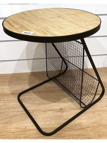 THE HOME DECO FACTORY Bijzettafel zwart/naturel - (H)48 x Ø 41 cm
