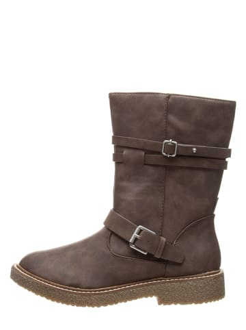 Bata Boots in Taupe
