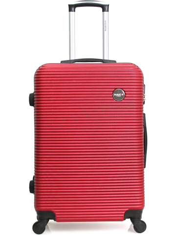 "BlueStar Hardcase-Trolley ""London"" in Bordeaux - (B)41 x (H)60 x (T)26 cm"