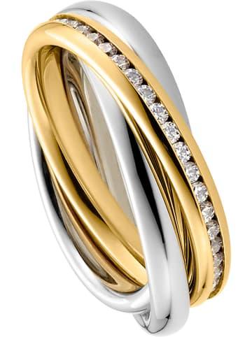 Steel_Art Vergold. Ring mit Edelsteinen