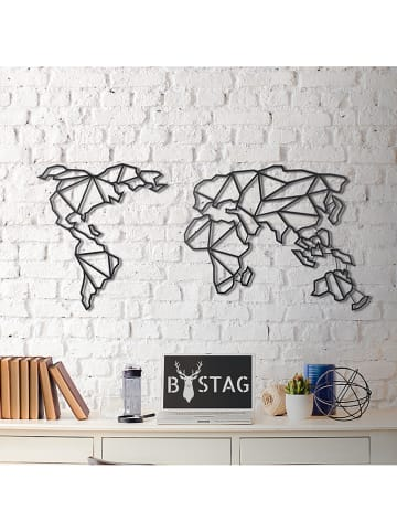 "Mioli Wanddekor ""World Map"" - (B)120 x (H)60 cm"