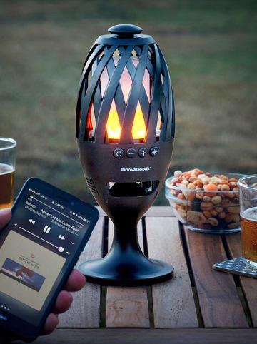 InnovaGoods Latarnia LED Bluetooth w kolorze czarnym z głośnikiem