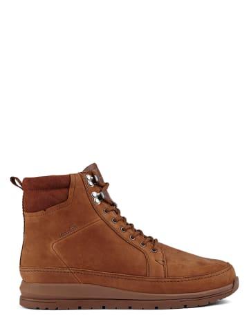MUSTANG SHOES Skórzane sneakersy w kolorze jasnobrązowym