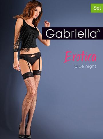 """Gabriella 2tlg. Wäscheset """"Blue Night"""" in Schwarz - 20 DEN"""