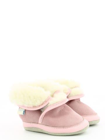 "Robeez Leder-Winterboots""Cosy Wool"" in Rosa"