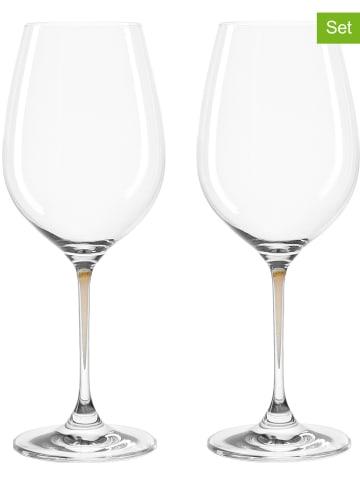 """LEONARDO Kieliszki (2 szt.) """"La Perla"""" w kolorze brązowym do wina - 200 ml"""