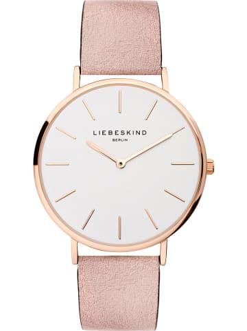 Liebeskind Zegarek kwarcowy w kolorze różowozłoto-białym