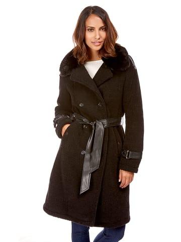 Le Comptoir du Manteau Płaszcz w kolorze czarnym