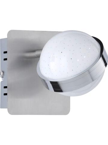 "WOFI Ścienna lampa LED ""Ster"" w kolorze srebrnym - 10 x 12 cm"