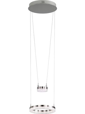 "WOFI Lampa wisząca ""Mason"" w kolorze srebrnym - Ø 28 cm"
