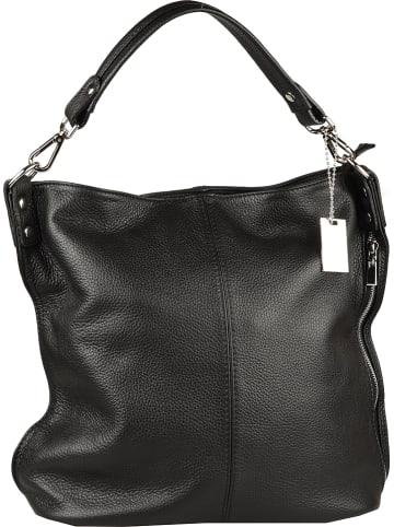 "Florence Bags Leren schoudertas ""Taba"" zwart - (B)32 x (H)31 x (D)16 cm"