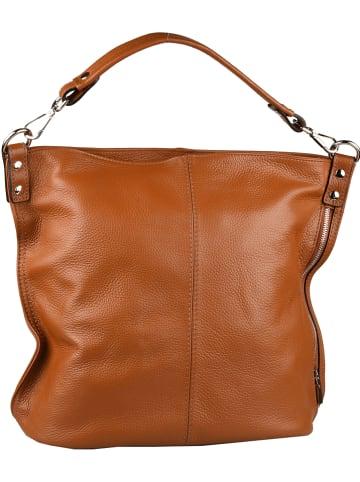 """Florence Bags Skórzana torebka """"Taba"""" w kolorze jasnobrązowym - 32 x 31 x 16 cm"""