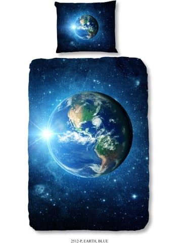 "Good Morning Beddengoedset ""Earth"" donkerblauw"