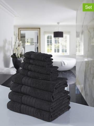 Good Morning Ręczniki (8 szt.) w kolorze antracytowym