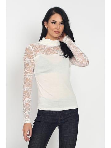 ASSUILI Koszulka w kolorze kremowym