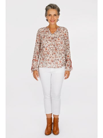 "Scottage Bluse ""Festiz"" in Creme/ Rot"