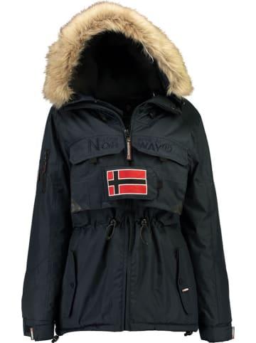 """Geographical Norway Kurtka zimowa """"Bantouna"""" w kolorze granatowym"""