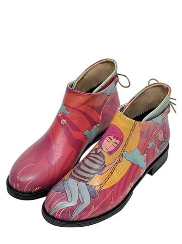 """Dogo Enkelboots """"Sad girls club"""" roze/meerkleurig"""