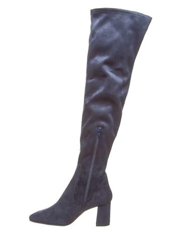 Otto Kern Leren laarzen donkerblauw