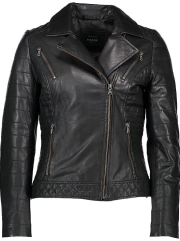 KRISS Leren jas zwart