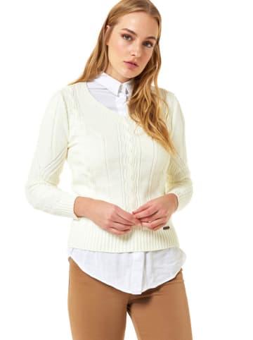 JIMMY SANDERS Sweter w kolorze kremowym