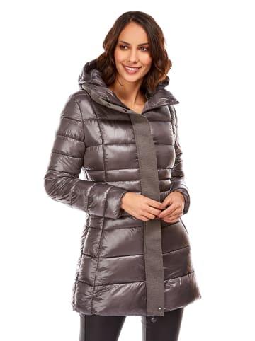 Snowie Collection Płaszcz przejściowy w kolorze antracytowym