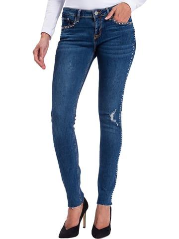 """Cross Jeans Spijkerbroek """"Adriana"""" - skinny fit - blauw"""