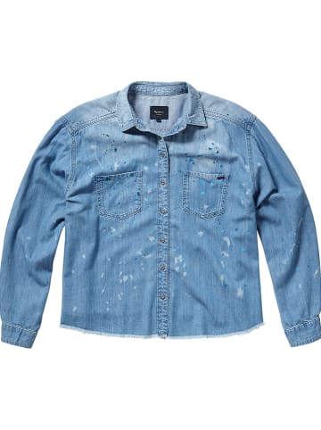 """Pepe Jeans Jeansbluse """"Painted"""" in Blau"""