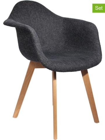 Ethnical Life Krzesła (2 szt.) w kolorze czarnym - 62 x 84 x 59 cm