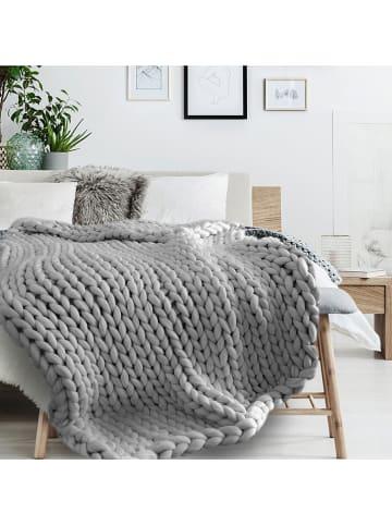 THE HOME DECO FACTORY Plaid grijs - (L)150 x (B)120 cm