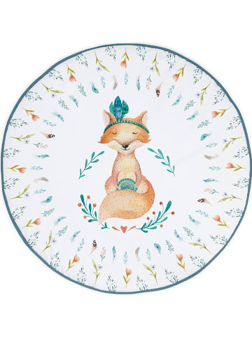 """Tanuki Mata """"Fox"""" w kolorze białym ze wzorem do raczkowania - Ø 90 cm"""