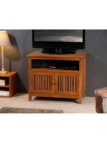 """Macabane Szafka """"Api"""" w kolorze brązowym pod telewizor - 80 x 66 x 44 cm"""