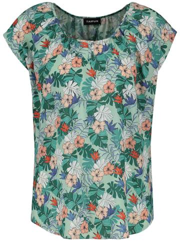 TAIFUN Bluzka w kolorze zielonym