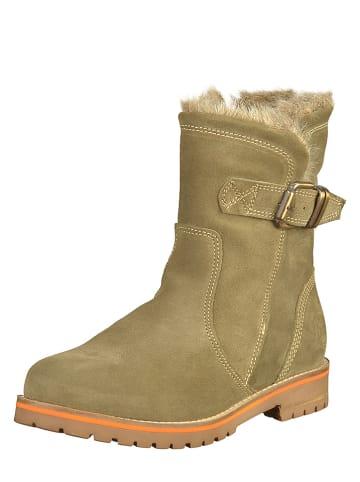 Marco Tozzi Leren boots kaki