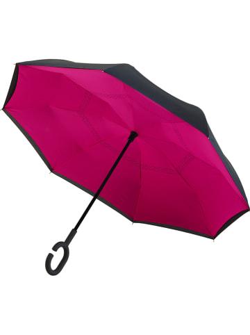 Impliva Inside-Out-Schirm in Pink/ Schwarz - Ø 107 cm