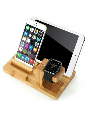 SmartCase Lightning-Docking-Station für iPhone, Ipad und Apple Watch in Bambus