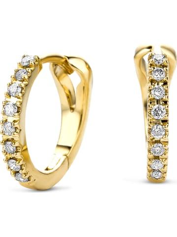Revoni Gouden creolen met diamanten