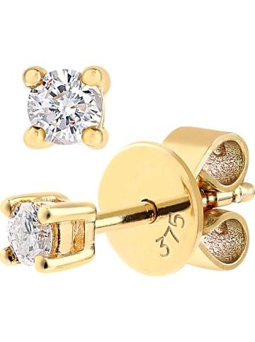 Revoni Złote kolczyki-wkrętki z diamentami