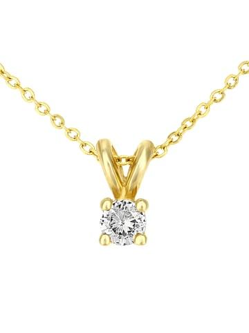 Diamant Exquis Gouden ketting met diamanten hanger - (L)46 cm