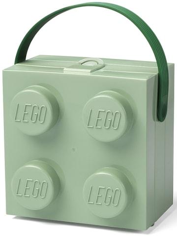 "LEGO Lunchbox ""Brick 4"" grijsgroen - (B)16,5 x (H)11,6 x (D)17,3 cm"