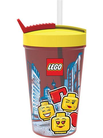 """LEGO Drinkbeker """"Iconic - Girl"""" geel/rood - 500 ml"""