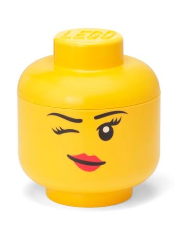 """LEGO Aufbewahrungsbox """"Whinky"""" in Gelb - (H)18,5 x Ø 16 cm"""