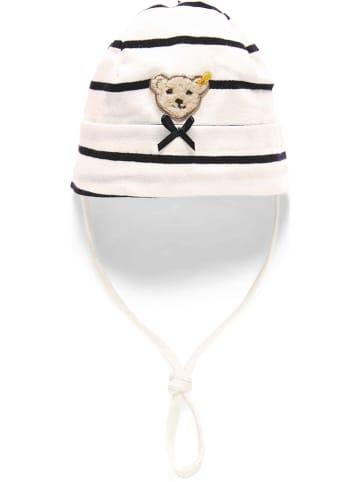 Steiff Czapka w kolorze granatowo-białym
