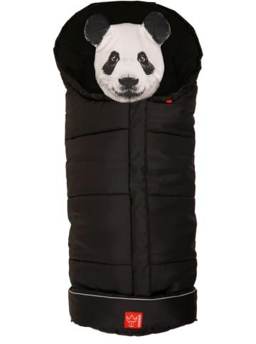 """Kaiser Naturfellprodukte Śpiworek termiczny """"Panda"""" w kolorze czarnym - 100 x 43 cm"""