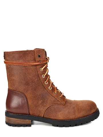 """UGG Leder-Boots """"Klimer II"""" in Cognac"""